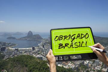 Obrigado Brasil Soccer Football Tactics Board Rio de Janeiro