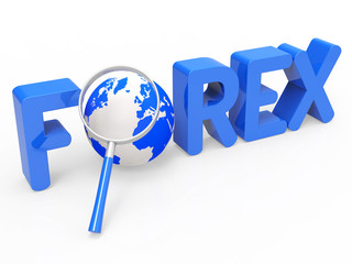 Magnifier Forex Shows Currency Exchange And Fx