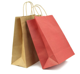 Two shopping bag isolated on white background.