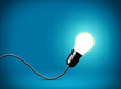 Idea concept with glowing bulb