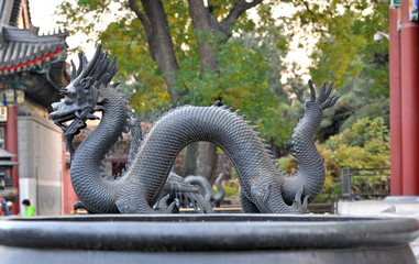 Ancient deity in the Beijing park