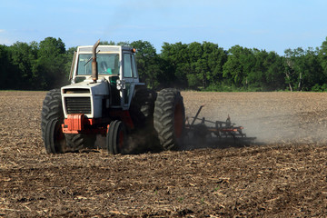 Farmer Tilling The Field