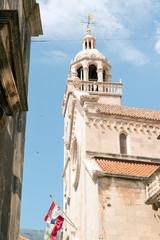 St Mark Cathedral in historic Korcula, Croatia