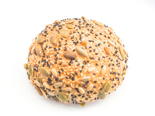 Sunflower and sesame seeds bun