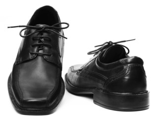Pair of black shoe