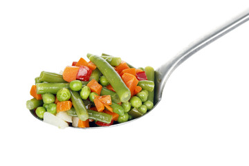 ladle of vegetables