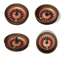 3d casino roulette range four set . 3D Icon Design Series.