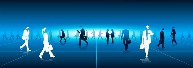 prospettiva, businessman, comunicazione, pavimento