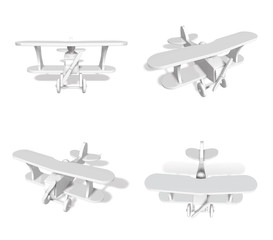 3D Small airplane icon. 3D Icon Design Series.