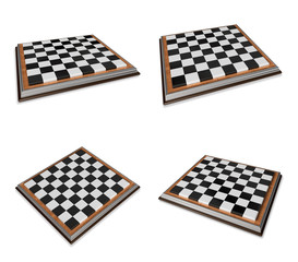3D Icon chessboard. 3D Icon Design Series.