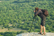 photographer in mountain