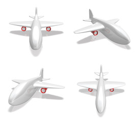 3D airplane icon. 3D Icon Design Series.