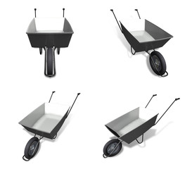 3D hand Carts icon. 3D Icon Design Series.