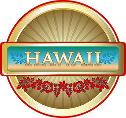 Hawaii Island Advertising Emblem