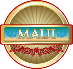 Maui Island Advertising Emblem