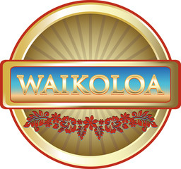 Waikoloa Hawaiian Advertising Emblem