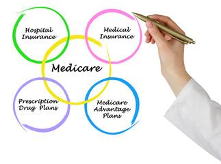 Diagram of medicare