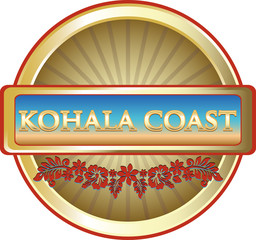 Kohala Coast Hawaiian Advertising Emblem
