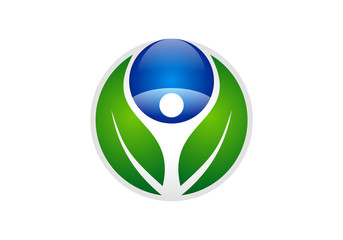 eco health nature symbol vector