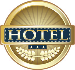 Three Star Hotel Advertising Emblem