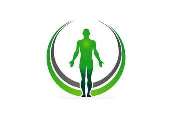 green human anatomy vector