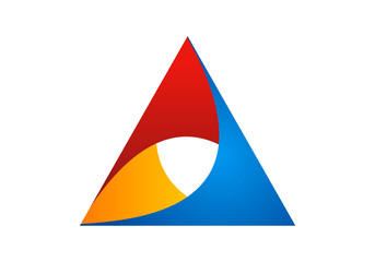 triangle abstract vector logo
