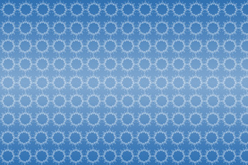 pattern of circles in blue background