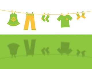 Clothes Line Means Clothespeg Hang And Apparel