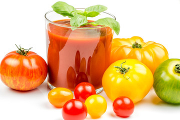 Tomato Juice and Fresh Tomatoes
