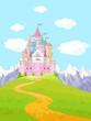 Fairy Tale Castle Landscape - 66835054