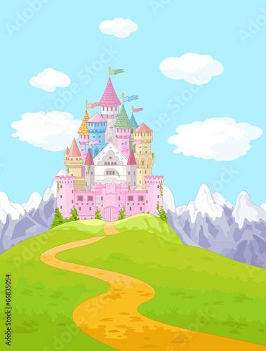 Fairy Tale Castle Landscape Plakát