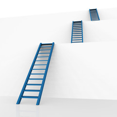 Ladders Vision Represents Conquering Adversity And Aspire