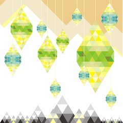 lamp geometric abtrac background