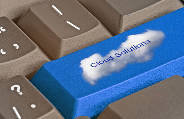 keyboard with key for cloud solutions