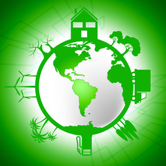 Global World Means Earth Day And Eco