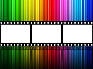 Filmstrip Copyspace Indicates Colour Splash And Color
