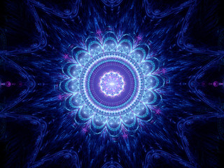 Big blue mandala