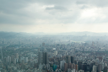 Taipei under Heavy Clouds