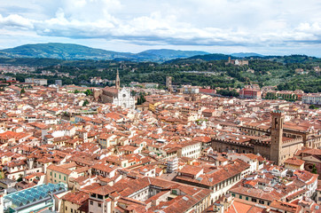 Old town of Florence from Saint Mary of the Flower church