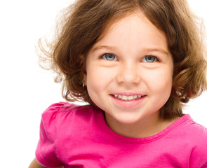 Portrait of cheerful little girl