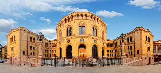 Oslo parliament - panorama