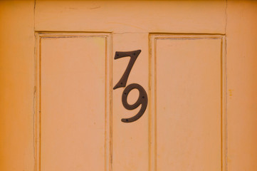 Door number 79 close up