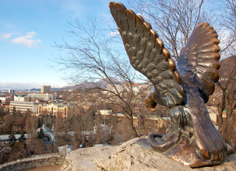 Eagle sculpture - Symbol of Pyatigorsk, Russia