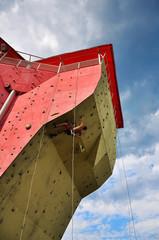 Climber climbing