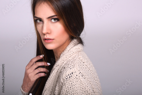 canvas print picture Portrait of the pretty young woman