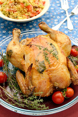Chicken with herbs and tomatoes