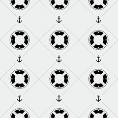 Anchor and lifebuoy pattern