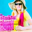 Frau, Urlaub, Sonnenmilch