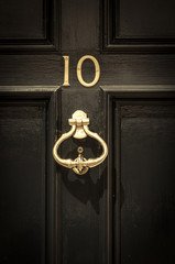 Close up of door number 10 and door knocker