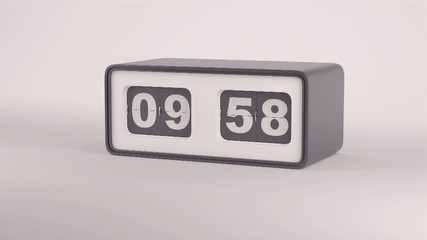 Flip clock with the inscription sale